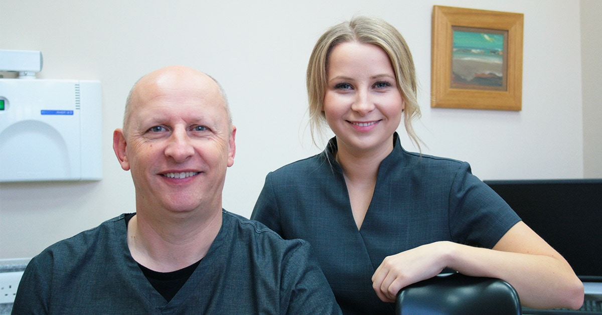 Dental practice principal Kenny and hygienist Beth looking forward to larger dental practice in Lincolnshire
