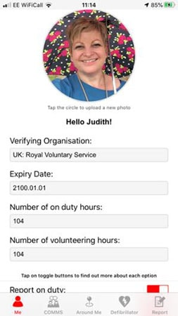 Jude Doig volunteering for the NHS